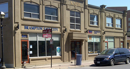 Office located in downtown Brampton